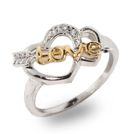 Cupids Sterling Silver Love Ring