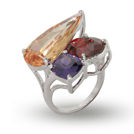 EvesAddiction.com Three Stone CZ Cocktail Ring - Clearance Final Sale at Sears.com
