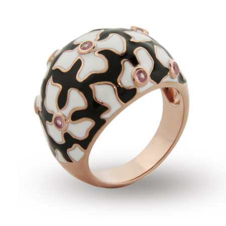 EvesAddiction.com Rose Gold Enamel Flower Ring - Clearance Final Sale at Sears.com