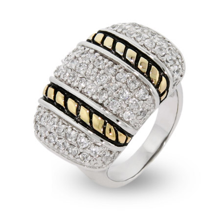 EvesAddiction.com Sparkling Pave Ring with Cable Design- Clearance Final Sale at Sears.com