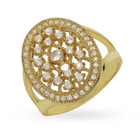 Bella's Twilight Inspired Gold Vermeil CZ Engagement Ring