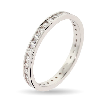 Stackable Reflections Extra Thin Diamond CZ Stackable Band