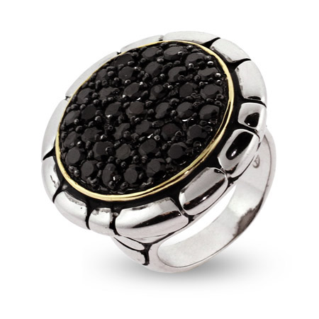 EvesAddiction.com Black Pave CZ Bali Style Ring - Clearance Final Sale at Sears.com
