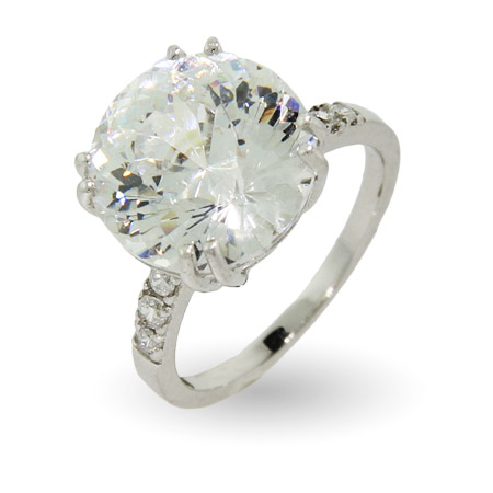 Sensational 6ct Millennium Cut CZ Right Hand Ring