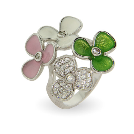 EvesAddiction.com Pastel Enamel Spring Flowers Ring - Clearance Final Sale at Sears.com