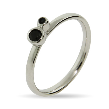 Stackable Reflections Black Onyx CZ Stackable Ring