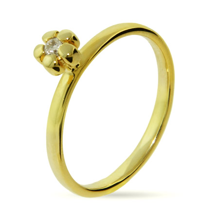 EvesAddiction.com Gold CZ Posey Stackable Ring - Clearance Final Sale at Sears.com