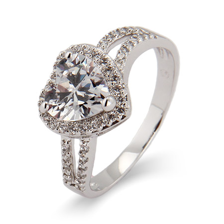 Kayla's Beautiful Heart CZ Promise Ring