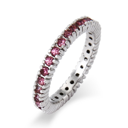 Stackable Reflections Sparkling June Alexandrite CZ Birthstone Stackable Ring