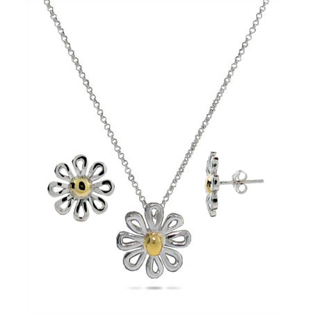 Tiffany Paloma Picasso Inspired Daisy Necklace and Earring Set