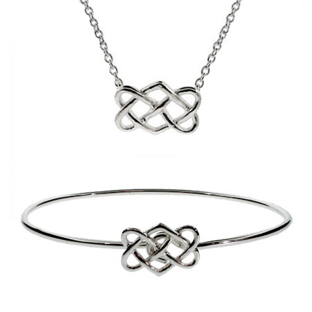 Tiffany Inspired Celtic Knot Bracelet & Necklace Set