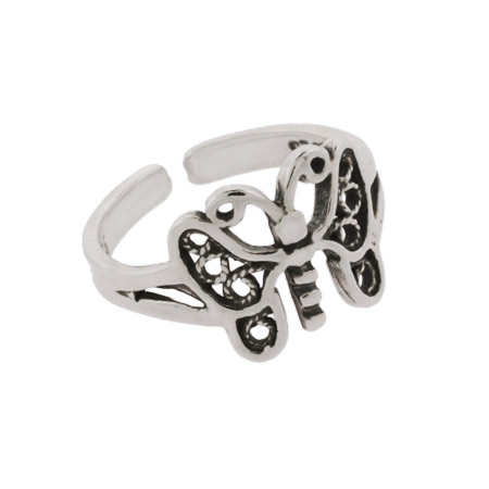 Mariah's Butterfly Sterling Silver Toe Ring