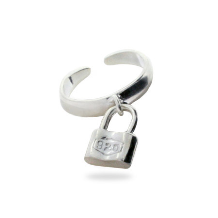 Tiffany Inspired Sterling Silver 1837 Lock Toe Ring
