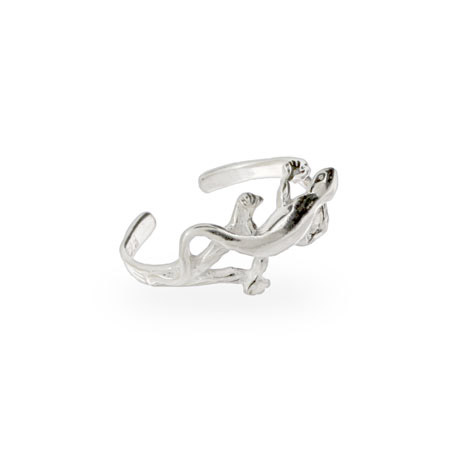 Sterling Silver Lizard Toe Ring