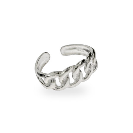 Sterling Silver Chain Link Toe Ring