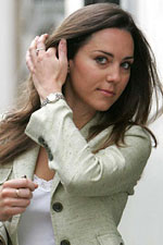 Kate Middleton sports an understated watch to keep her business casual looking professional. Try our Designer Inspired Two Tone CZ Fashion Watch!