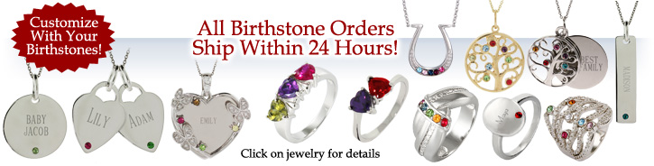 Custom Birthstone Jewelry
