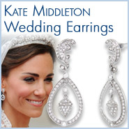 Kate Middleton Replica Sterling Silver Royal Wedding Earrings