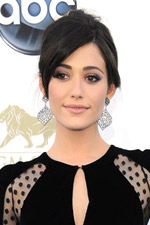 Easily one of the best dressed, Emmy Rossum stole our hearts with her black polka dot gown and filigree earrings.
