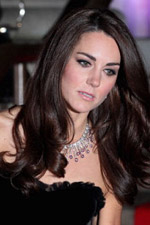 The Duchess always looks stunning and knows how to accessorize any look just like she did when she wore this Duchess-y diamond and ruby necklace. Get the look at Eve�s!