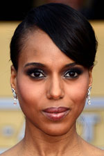 Kerry Washington stuns again with an elegant updo and stunning drop earrings at the 2013 SAG awards.
