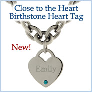 Close to The Heart Birthstone Heart Tag - Brand New!