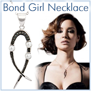 Severine's Skyfall Inspired Black CZ Bond Girl Pendant