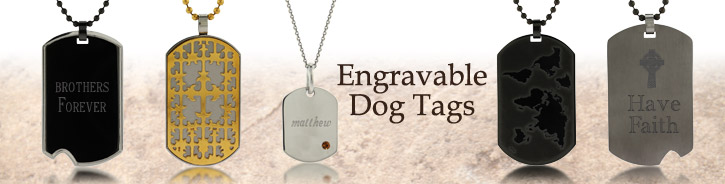Dog Tag Necklaces & Pendants