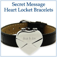 Secret Message Heart Lockets