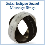Solar Eclipse Secret Message Rings