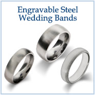 Engravable Steel Wedding Bands