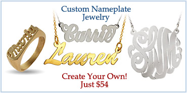 Custom Nameplate Jewelry - Design Your Own!