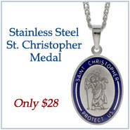 Engravable Stainless Steel St. Christopher Medal
