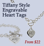 Tiffany Style Heart Tags