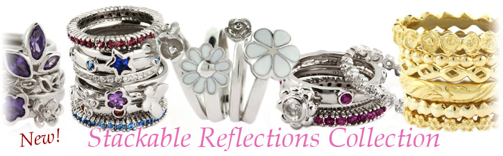 Stackable Reflections Stackable Silver Rings