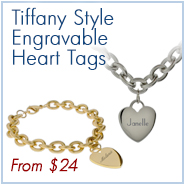Engravable Heart Tags