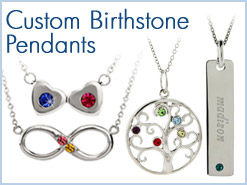 Custom Birthstone Pendants