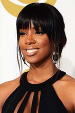 Kelly Rowland adds a pop of color on the red carpet at the 2011 Grammys! Get her look for less!
