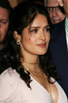 Salma Hayek is dressed for the occassion wherever she goes with a little help from her fashinable earrings.