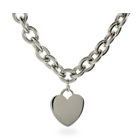 Designer Style Stainless Steel Heart Tag Necklace