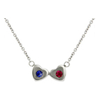 2 Stone Family Of Hearts Custom Birthstone Necklace