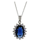 Kathryn's Beautiful Sapphire CZ Necklace