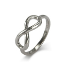 Designer Style Infinity Ring - Sterling Silver