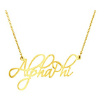 Alpha Phi Gold Vermeil Fancy Necklace