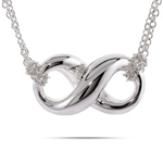 Tiffany Inspired Sterling Silver Infinity Necklace